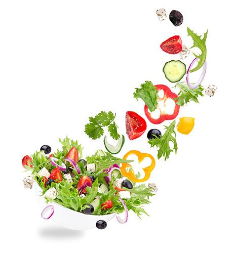 人は1日に350gの野菜が必要です。