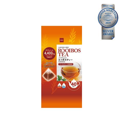 優秀品質銀賞「ルイボスティー ティーバッグ(本体価格398円)」 最上級茶葉を使用。茶葉の残留農薬検査を国内で行った安心・安全なティーバッグ。
