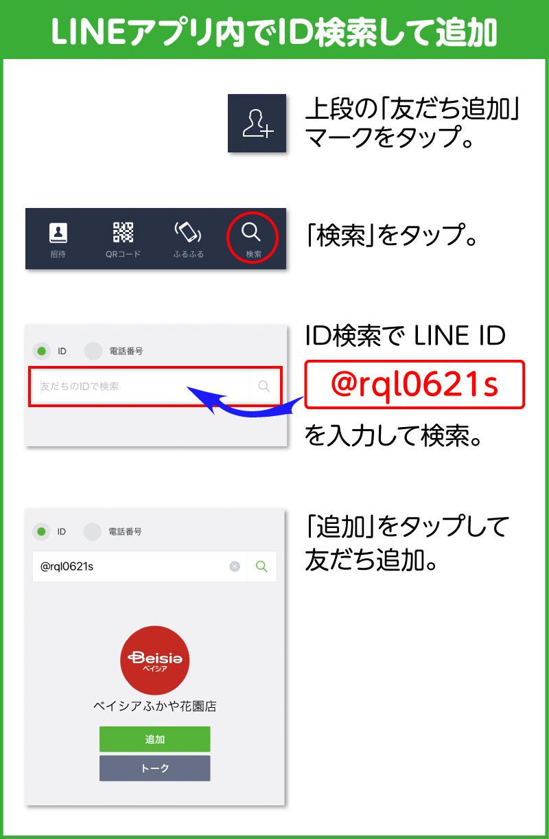 LINE ID で友だち追加